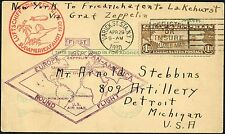 #C14 ON ZEPP FLIGHT COVER APR. 29,1930; XF CV $400.00 BN8872