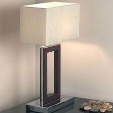 Endon Lighting Portal table 60W SW - dark wood cre - 0195-DW