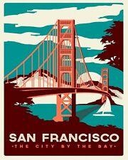 "10"" x 8"" SAN FRANCISCO GOLDEN GATE BRIDGE CALIFORNIA METAL PLAQUE TIN SIGN N104"