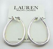 Hoop Earring Msrp $32.00 Lauren Ralph Lauren Silver Tone