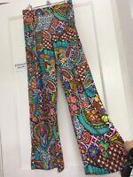 Trina Turk Swim Coverup Paisley Floral Wide Leg Pants Size XS / S 🌞