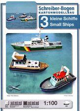 Schreiber-Bogen Kartonmodellbau 3 kleine Schiffe 1:100