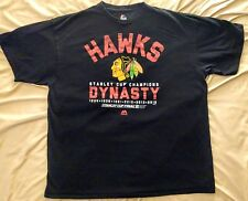 Majestic Size 2XL NHL Chicago Blackhawks Dynasty Stanley Cup Champions T-Shirt