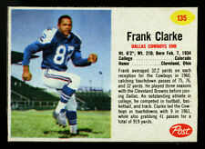 1962 POST CEREAL FOOTBALL CARD~#135~FRANK CLARKE~DALLAS COWBOYS~BLACK BORDERS~SP