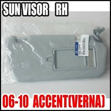 Hyundai 06~10 Accent,Verna Passenger  Right Inside Sun Visor Gray 85220-1E020QS