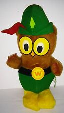Woodsy OWL ~ Give a Hoot Don't Pollute ~ Knickerbocker 1970's firm stuffed plush