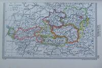 1954 Landkarte ~ Österreich Salzburg Wien Nieder Österreich Karnten Tirol