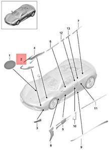 Genuine PORSCHE 918 Spyder Decorative Film Right 91855935400