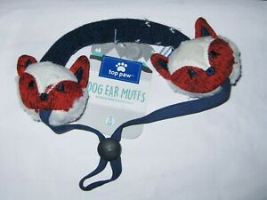 NEW Top Paw Dog Ear Muffs Foxes Small to Medium