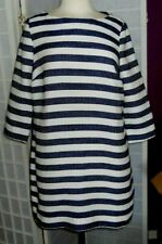 Lovely White & Blue Striped Size 10 WHITE STUFF Midi Weave Tunic BNWT rrp £55.00