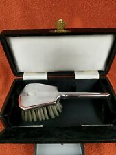 More details for antique silver cased art deco french brush, c1925