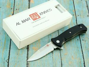 AL MAR SERE  COYOTE AMK2201 BLACK ASSISTED TACTICAL FOLDING POCKET KNIFE KNIVES