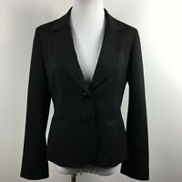 Anne Klein Petite 10P Blazer Jacket Stretch Black 2 Button Slit Pockets Lined