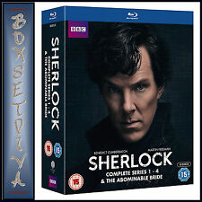 SHERLOCK - SERIES 1 2 3 & 4 PLUS ABOMINABLE BRIDE BOXSET * BRAND NEW BLU-RAY***