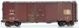 CG Central of Georgia 1 1/2 door Boxcar Sunshine Models Red Caboose HO