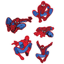 5pcs Spider Man Embroidered Iron/Sew ON Patch Kids Cloth Sew Applique Free Ship