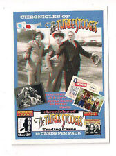 2015 PHILLY NON SPORT SHOW CHRONICLES THREESTOOGES PROMO CARD #12