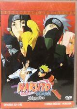 Naruto Shippuden 3 Disc Set, Episodes 221-242 LIKE NEW/RESHRUNK FREE SHIPPING