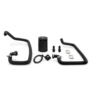 Mishimoto Baffled Oil Catch Can PCV Fits Ford Mustang EcoBoost 2015-2017 Black