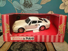 Very Collectable & Rare Diecast Tonka Polistil Porsche 959 Boxed with Key 1:18
