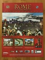 Rome: Total War PC 2004 Vintage Poster Ad Art Print Official Big Box Promo Rare