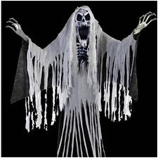 "Halloween Haunted LifeSize Animated Prop Towering 76"" Skelton Ghost Wailing Soul"