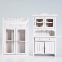 Puppen Haus Brust von Schubladen Weiß mit 6 Schubladen für Puppenhaus 1:12 Z3Q5