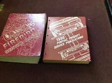 1986 GM OEM Pontiac Firebird Trans Am Service Shop Repair Manual Set Publication