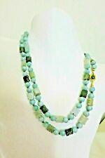 RARE!!  VINTAGE ANTIQUE CHINESE LONGEVITY CARVED JADE JADEITE BEADS NECKLACE 36""