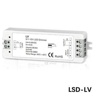 LED Dimmer 0/1-10V 8A Netzteil Treiber Helligkeitsregler DC5~36V für Led Strip