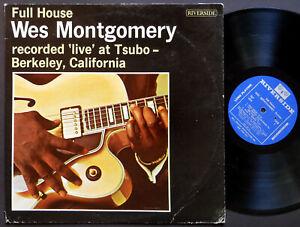 WES MONTGOMERY Full House LP RIVERSIDE RLP 434 MONO Wynton Kelly Johnny Griffin