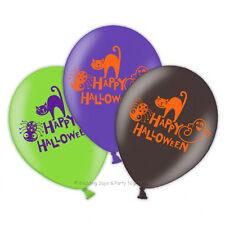 "Friendly Mummy Happy Halloween 4 Sided Print 11"" Latex Balloons X 6"