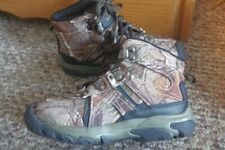 Youth Realtree Camouflage Hiker Boots-Sz 13-New-Lace-up eyelets-Ankle Boots