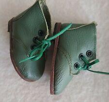 HANDARBEIT 7 cm Sohlenlänge für Bär oder Puppe Boots NEU Halbstiefel Shabby