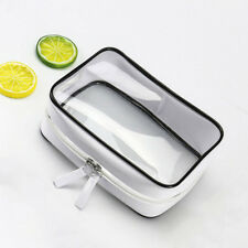 Transparent Cosmetic Travel Bag Clear Toiletry Makeup Zip Plastic Pouch Case DP