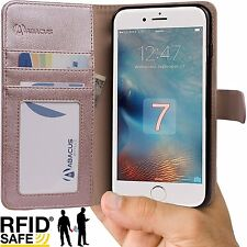 Rose Gold Folio Wallet Flip Cover Case for Apple iPhone 8 / 7 Phone