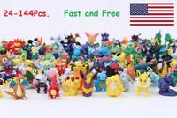 24-144Pcs Pokemon Pocket Mini 3cm Action Figures Kid Toy Birthday Christmas Gift