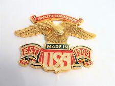 ORIGINAL HARLEY DAVIDSON GOLD EAGLE EMBLEM UNIVERSAL 99000-77 SELBSTKLEBEND