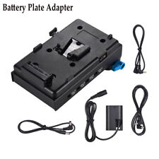 V-mount Battery Plate Adapter w/Dual Hole Rod Clamp/Auto-lock Protection For Mic