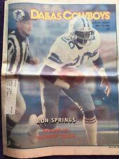 """"""" NFL Dallas Cowboys Official Weekly Magazine October, 17, 1981; Vol. 7, No.18"""