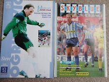 Football programmes COVENTRY vs CHARLTON 24th mar 1990 ASTON VILLA 10th aug 1994
