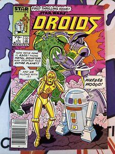 Star Wars Droids 1 Marvel Star Comics C-3PO R2-D2 Newsstand VF/NM Or Better