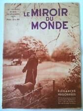 Le Miroir du Monde Décembre 1933 Travaux Cercle Polaire