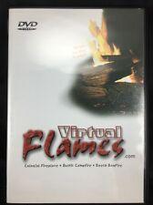 Fireplace DVD Video Virtual Flames Colonial Fireplace Campfire Beach Bonfire