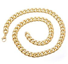 Thick Chunky Gold Chain Necklace Gangster Pimp Hip Hop Rapper Costume Jewellery