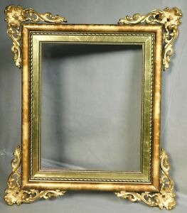 Vintage Louis XVI Picture Frame French Gilt Metal Wood Gold Leaf 7x9 NOT 8x10