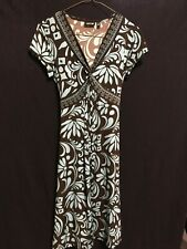 Apt 9 Brown/Blue knee length dress Size Small excellent condition