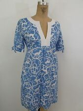LILLY PULITZER Blue/White Monkey Print Dress-Size 2