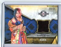 WWE Asuka 2017 Topps Women's Division Event Used NXT Mat Relic Card SN 9 of 25