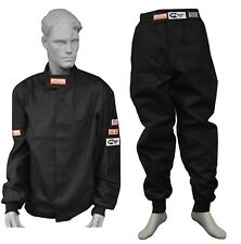 FIRE DRIVING SUIT RACING JACKET & PANTS 2 PIECE SFI 3-2A/1 BLACK SIZE LARGE
